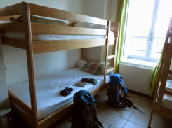 Our first bunk beds, in St Privat d'Allier