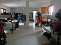 A typical Spanish albergue dormitory; this one in Rabanal