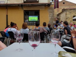 Barcelona vs Juventas. Everyone cared about this game. Every bar had a TV set up in the window.