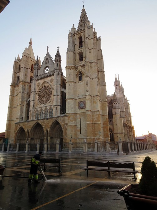 Leon Cathedral at Dawn